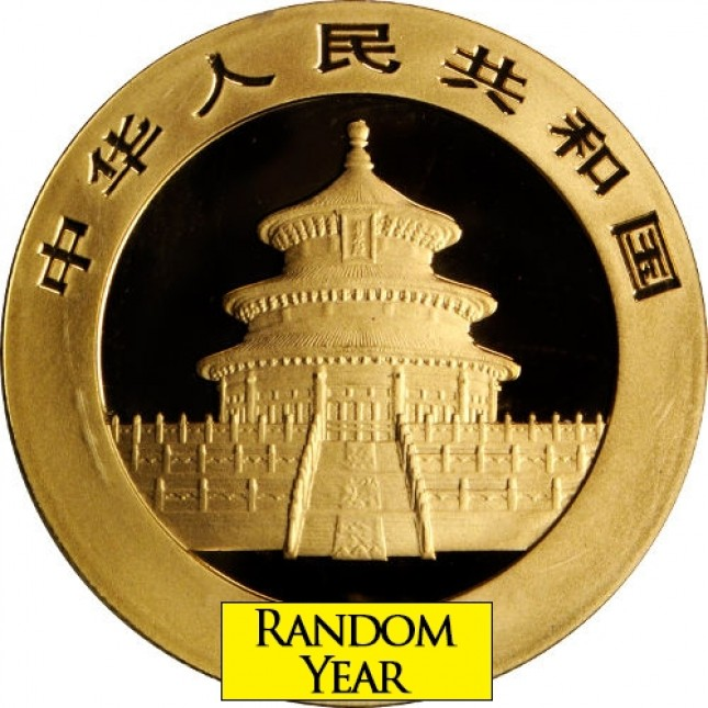China 1/4 oz Gold Panda Coin BU (Random Date/Sealed)