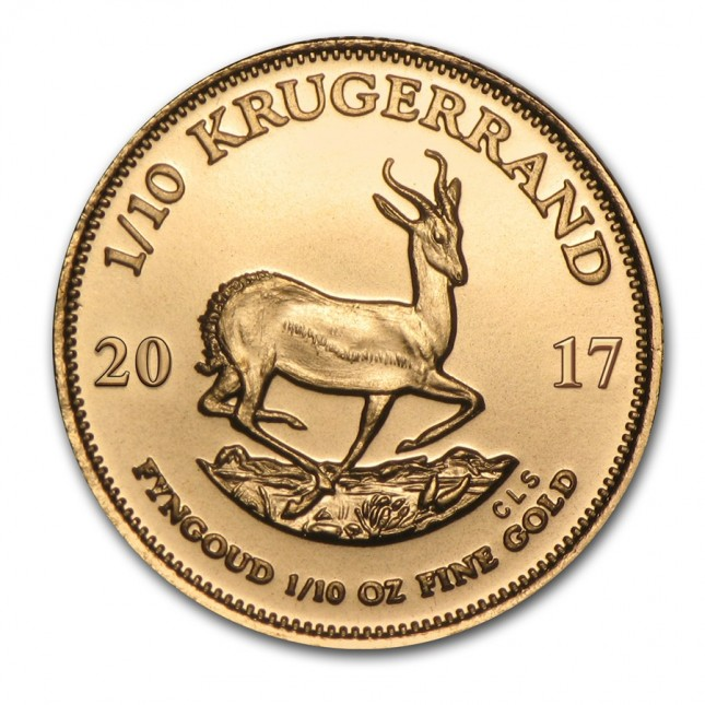 2017 1/10 oz South Africa Gold Krugerrand Reverse