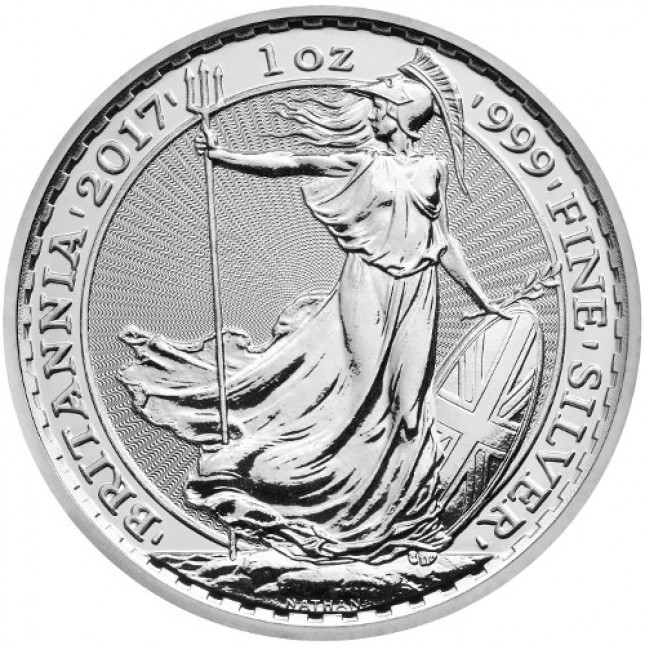 2017 Great Britain 1 Oz Silver Britannia - Rooster Privy (BU)