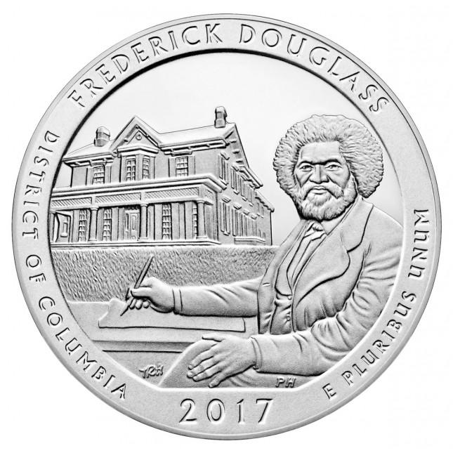 2017 Frederick Douglass 5 Oz Silver ATB Coin