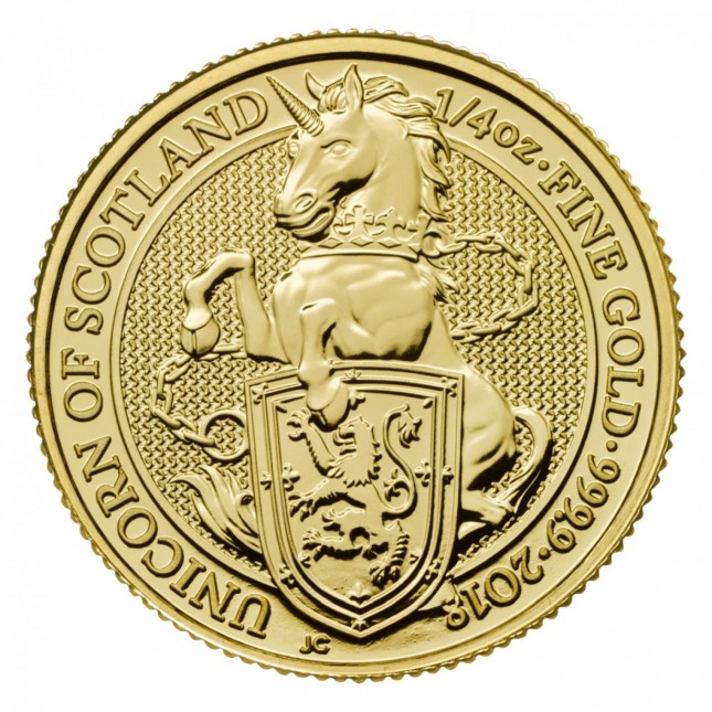2018 UK 1/4 Oz Gold Unicorn (Queen's Beasts Series)
