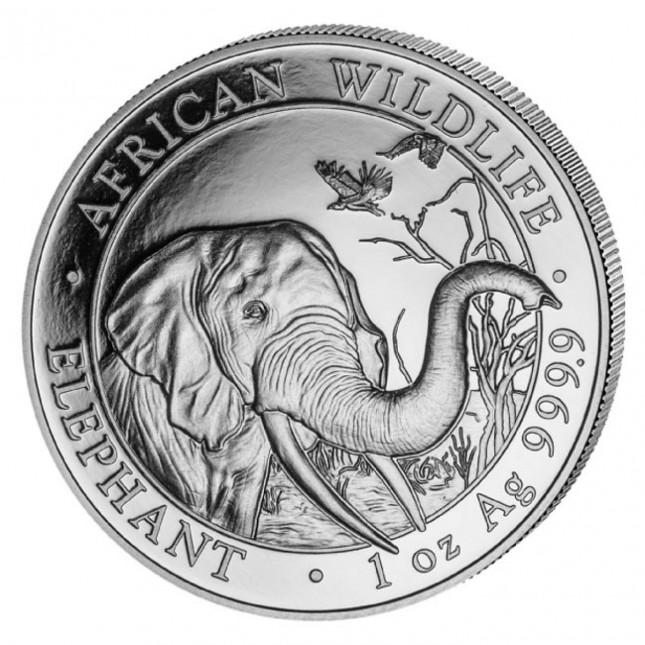 2018 Somalia 1 Oz Silver Elephant (BU)