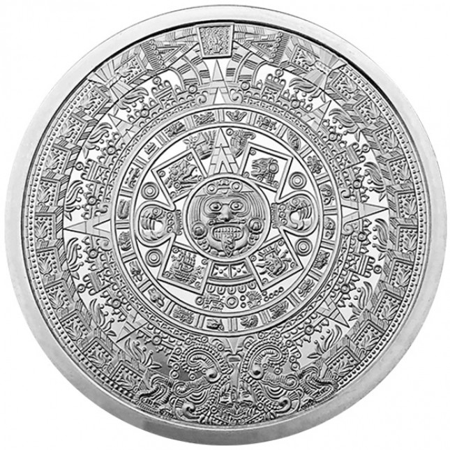 5 oz Silver Round | Aztec Calendar (BU)