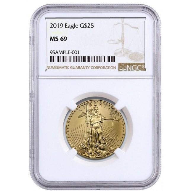 2019 1/2 Oz American Gold Eagle NGC MS69
