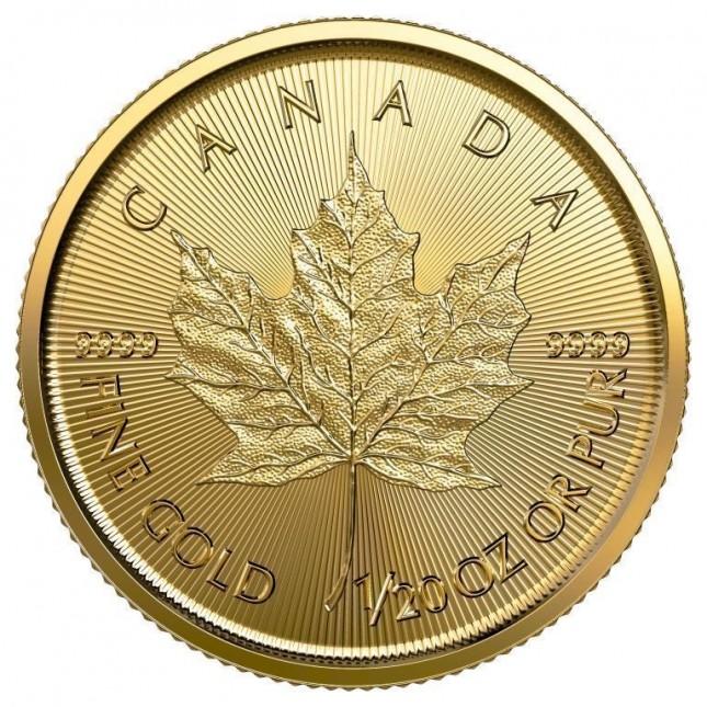 2020 Canada 1/20 Oz Gold Maple Leaf (BU)