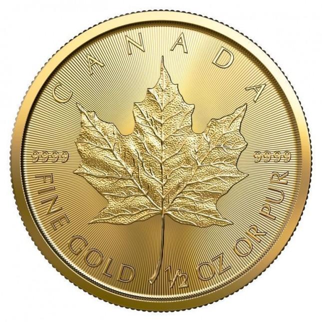 2019 Canada 1/2 Oz Gold Maple Leaf (BU)