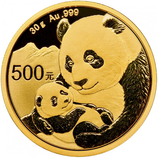 2019 China 30 Gram Gold Panda Coin BU (Sealed)