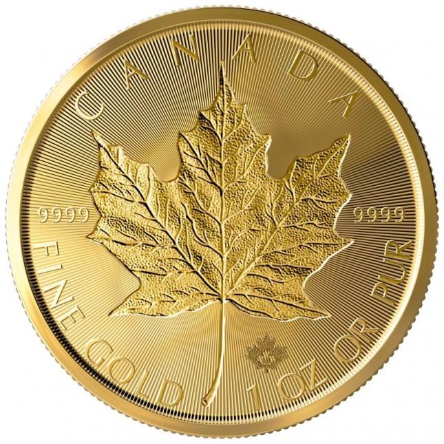 2019 Canada $50 1 Oz Incuse Gold Maple Leaf (BU)