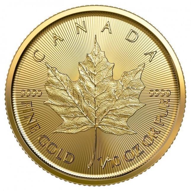2021 Canada 1/10 Oz Gold Maple Leaf (BU)
