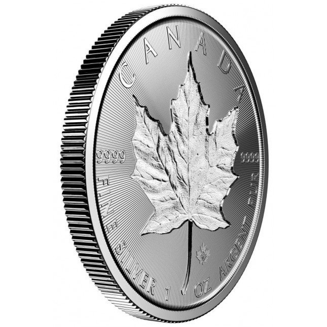 2019 Canada $5 1 Oz Incuse Silver Maple Leaf (BU)
