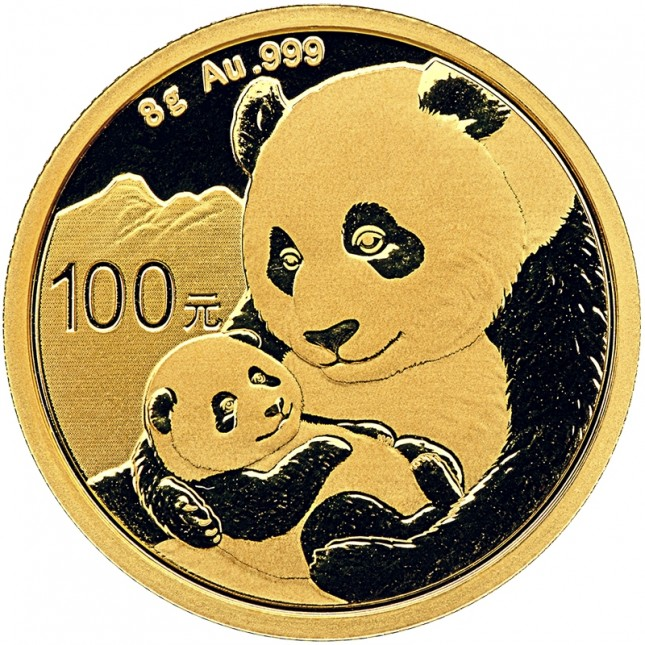 2019 China 8 Gram Gold Panda Coin BU (Sealed)
