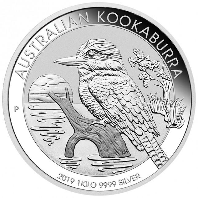 2019 Australia 1 Kilo Silver Kookaburra (BU)