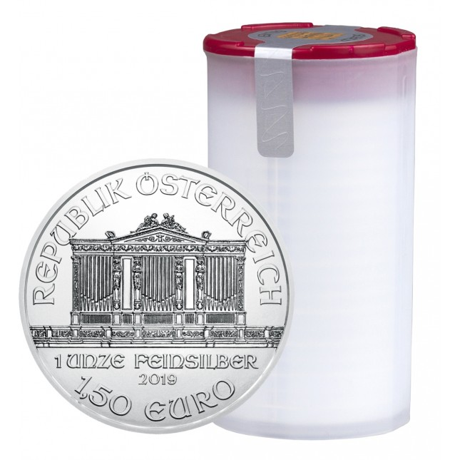 2019 Austria 1 Oz Silver Philharmonic (BU) - Tube/Roll of 20 Coins