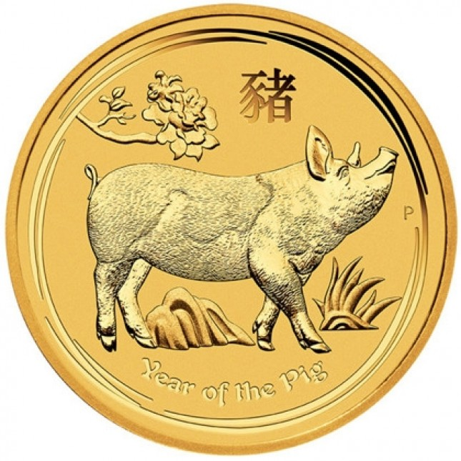2019 Australia 1 oz Gold Lunar Pig Coin (BU)
