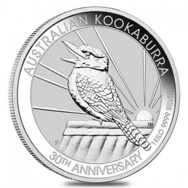 2020 Australia 1 Kilo Silver Kookaburra (BU)