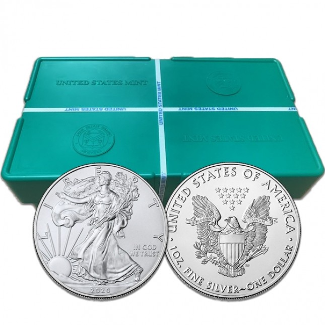 2020 (S Mint) American Silver Eagle Monster Box of 500 Coins