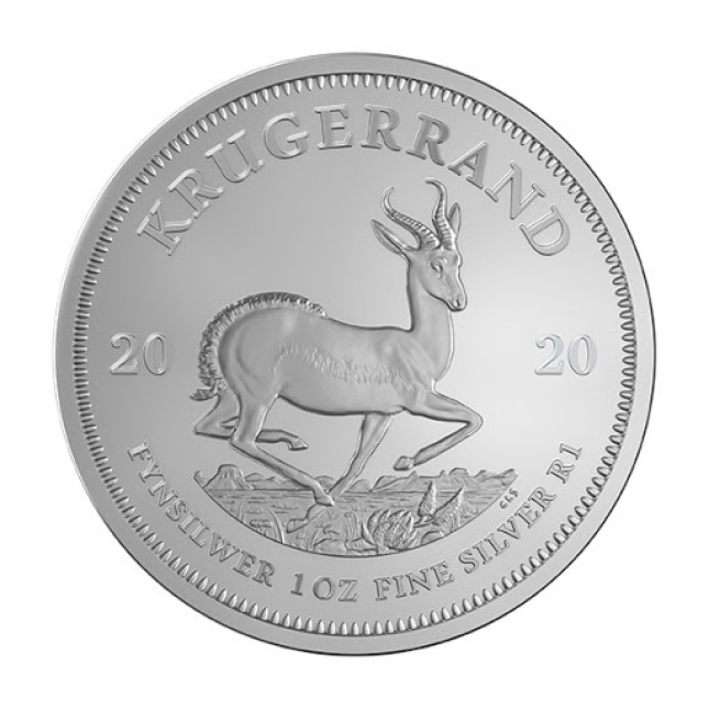 2020 South Africa 1 Oz Silver Krugerrand (BU)
