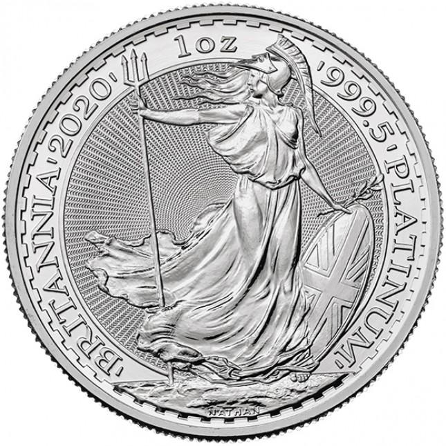 2020 1 Oz Great Britain Platinum Britannia (BU)