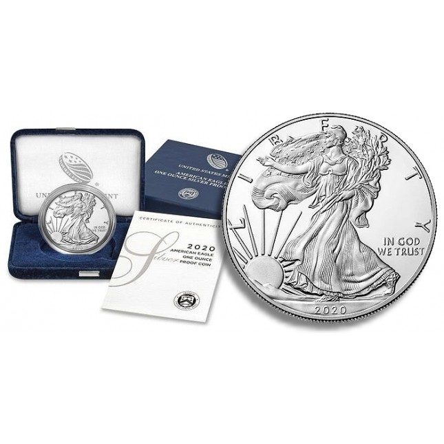 2020-S American Proof Silver Eagle (In OGP)