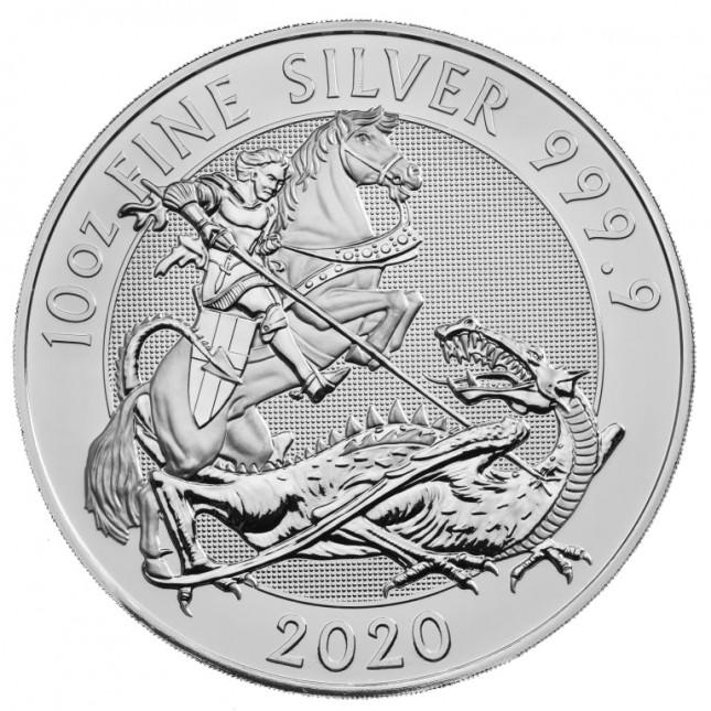 2020 Royal Mint 10 Oz Silver Valiant Coin (BU)