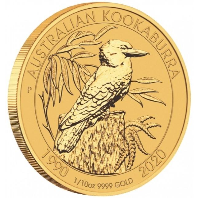 2020 Australia 1/10 Oz Gold Kookaburra (BU)