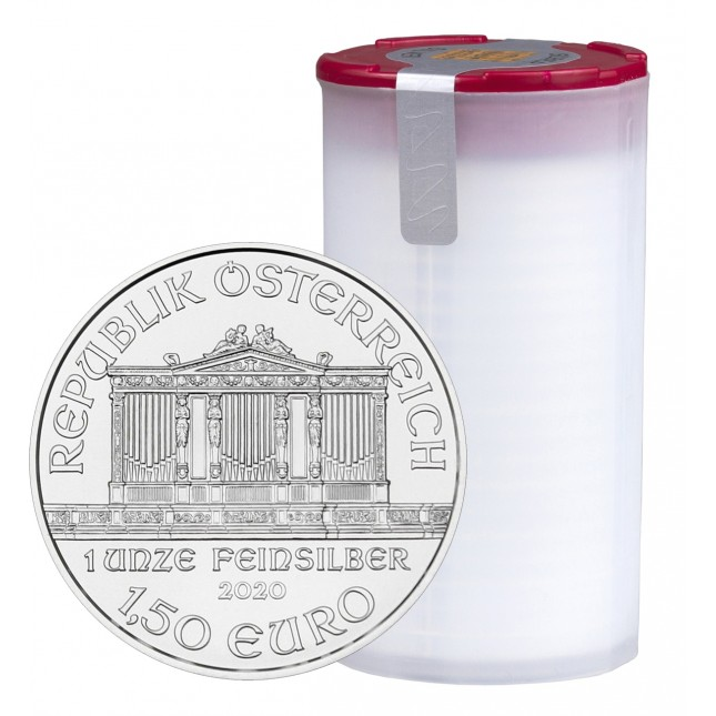 2020 Austria 1 Oz Silver Philharmonic (BU) - Tube/Roll of 20 Coins
