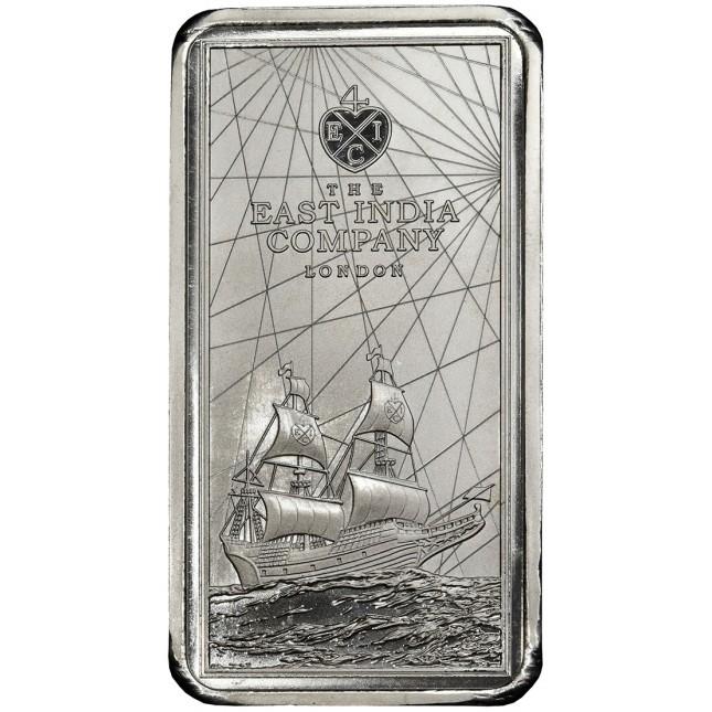 2021 250 Gram St. Helena Rectangular Silver East India Company Coin (BU)