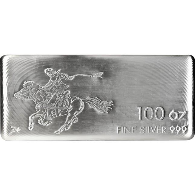 100 Oz SilverTowne Pony Silver Bar (New)