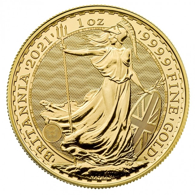 2021 Great Britain 1 Oz Gold Britannia (BU)
