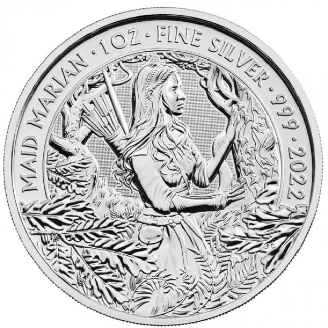 2022 UK 1 Oz Silver Maid Marian Coin (BU)
