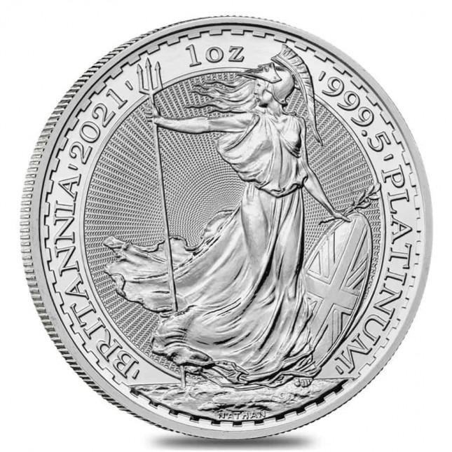 2021 1 Oz Great Britain Platinum Britannia (BU)