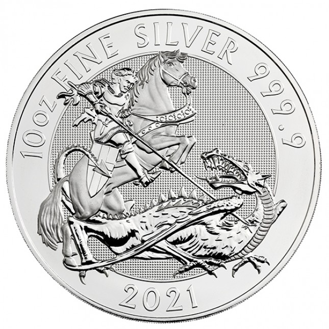 2021 Royal Mint 10 Oz Silver Valiant Coin (BU)