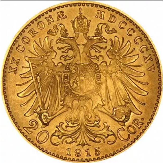 Austria Gold 20 Corona 1915 AU (Restrike)