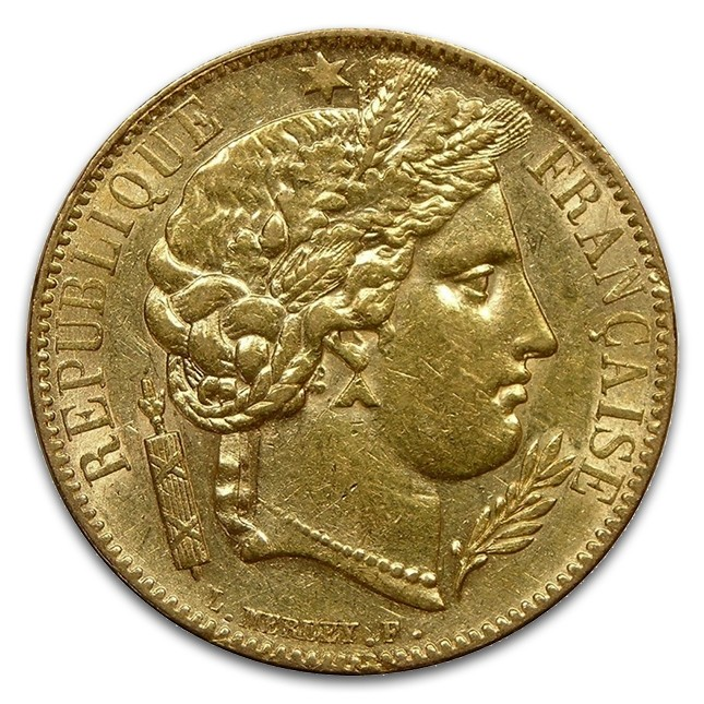 France Gold 20 Franc 1850-1851 Ceres Coin