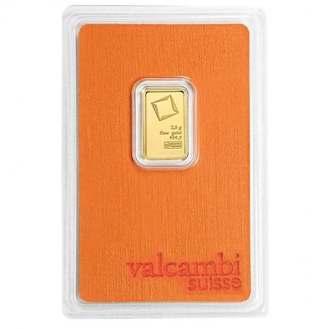 Valcambi 2.5 Gram Gold Bar (In Assay)