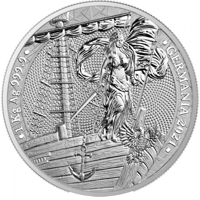 2021 Kilo (32.15 Oz) Germania Silver Round (BU)