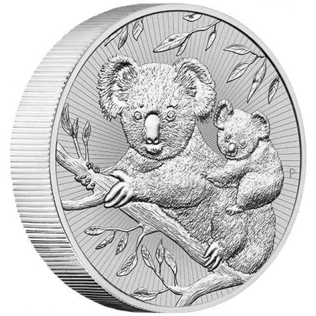 2018 Australia 2 oz Piedfort 'Next Generation Series' Silver Koala (BU)