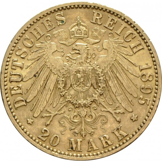German Gold 20 Mark (Random Year)