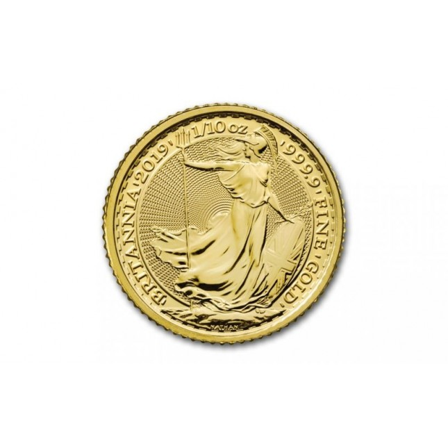 Great Britain 1/10 Oz Gold Britannia BU (Random Year)