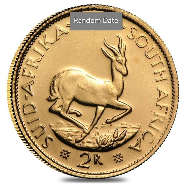 South Africa Gold 2 Rand AU (Random Date)
