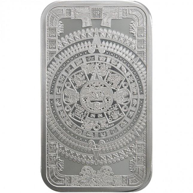 5 oz Silver Bar | Aztec Calendar