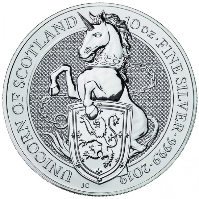 2019 UK 10 Oz Silver Unicorn (Queen's Beasts Series)