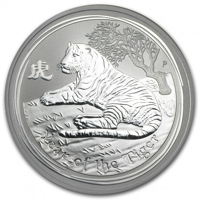 2010 Australia Silver Year of the Tiger 1 Oz (BU)