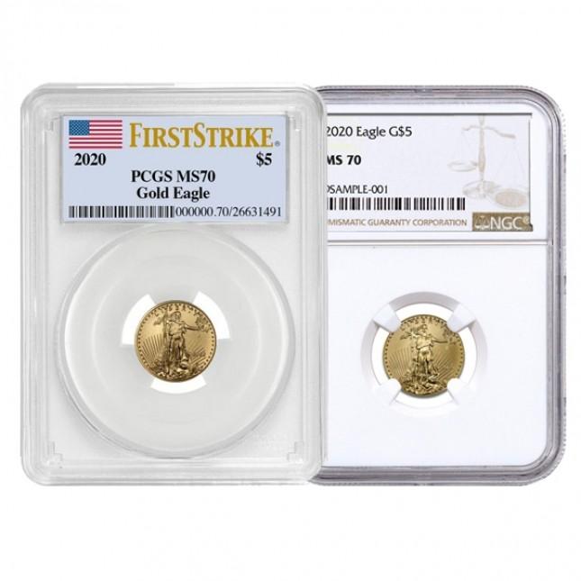 1/10 Oz American Gold Eagle PCGS/NGC MS70 (Random Year)