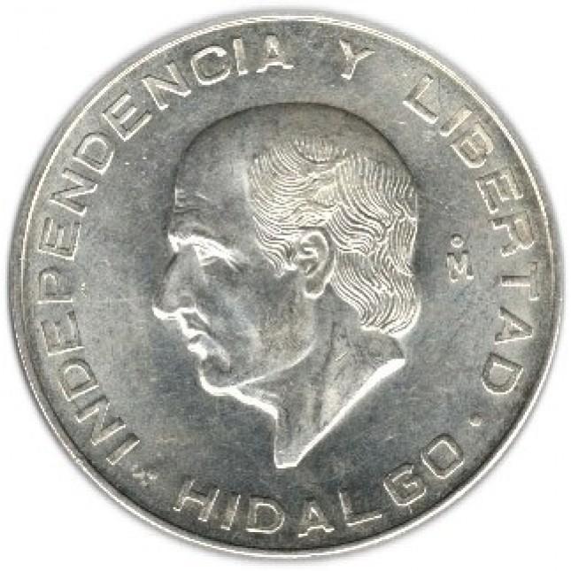 1955-1956 Mexico Silver 10 Pesos Hidalgo Avg Circ (ASW .8359 oz)