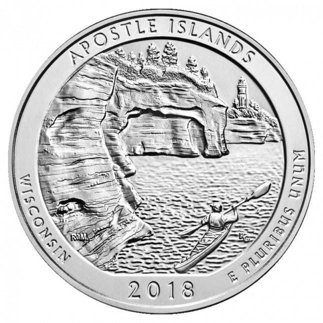 2018 Apostle Islands 5 Oz Silver ATB Coin (BU)