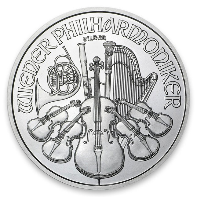 Silver Vienna Austria Philharmonic Obverse