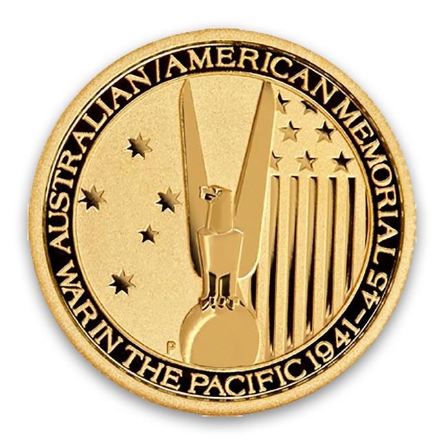 2013 Australia 1/10 Oz Gold War in the Pacific Coin - Original Mint Capsule