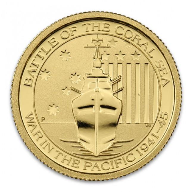 2014 Australia Gold 1/10 Oz Battle of the Coral Sea Coin