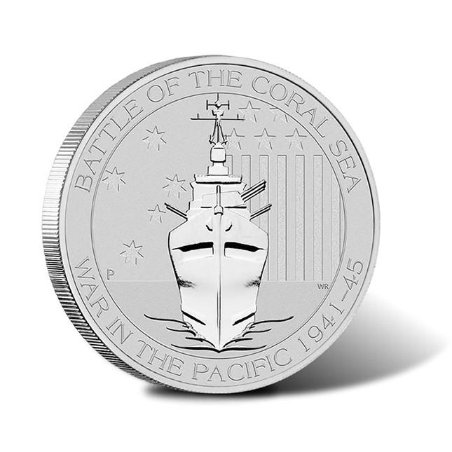 2015 Australia 1/2 Oz Battle of the Coral Sea Silver Coin